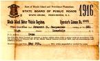 1916 Driver's License