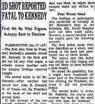 JFK Newspaper clipping