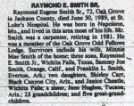 "Raymond Eugene ""Gene"" Smith Obituary 1989"