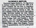 """Raymond Eugene """"Gene"""" Smith Obituary 1989"""