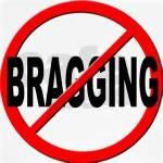 No bragging