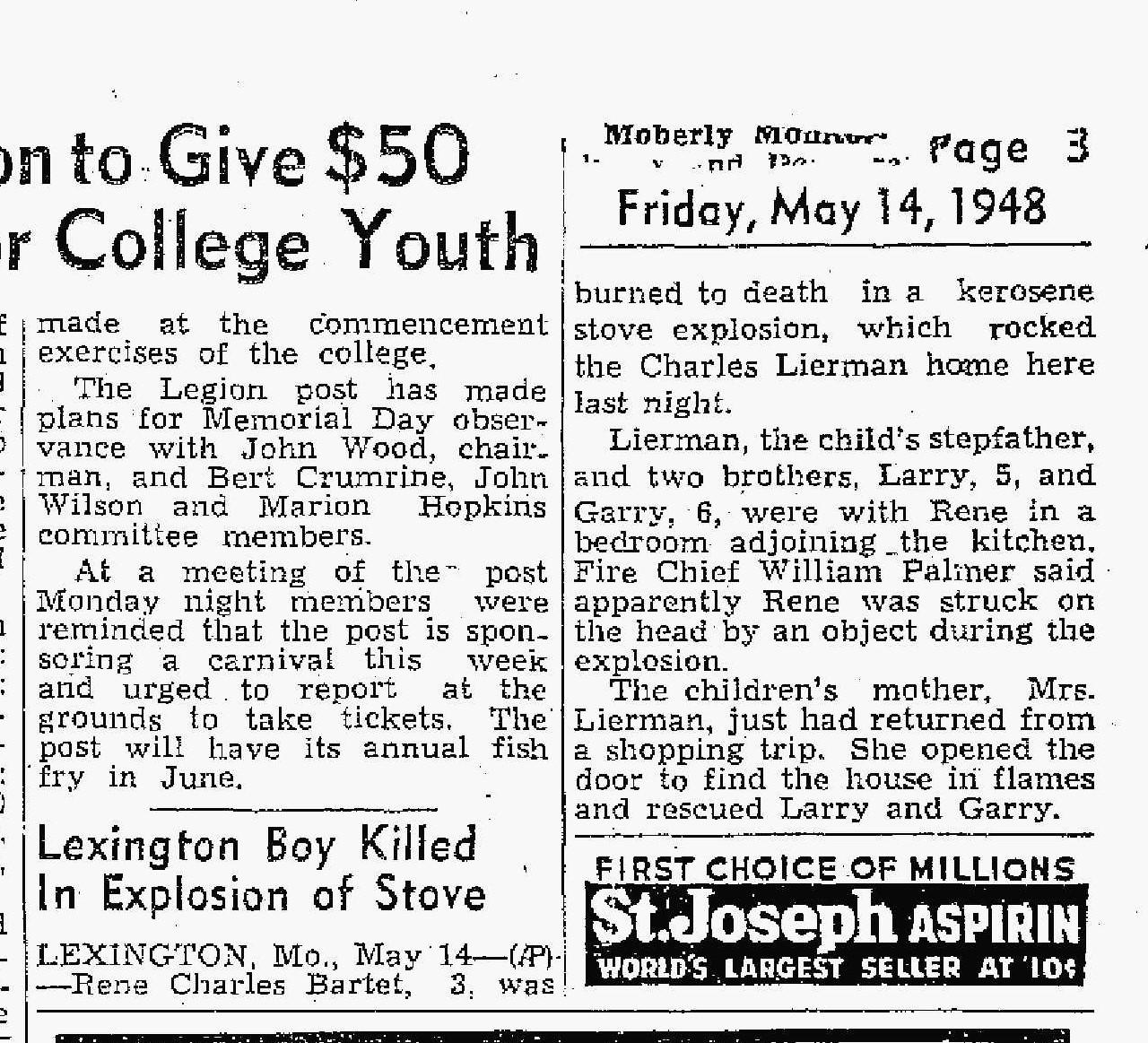 George C Liermans' Death