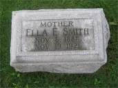Ella McGowan Smith headstone