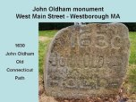 John Oldham path rock marker