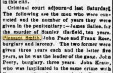 Pleasant Smith burgalar 22 March1890 Lex Intelligencer