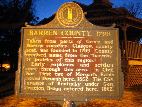 Barren County Sign glasglow