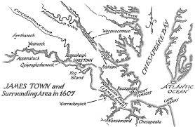 Jamestown 1607-map