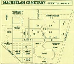 Machpelah Cemetery map