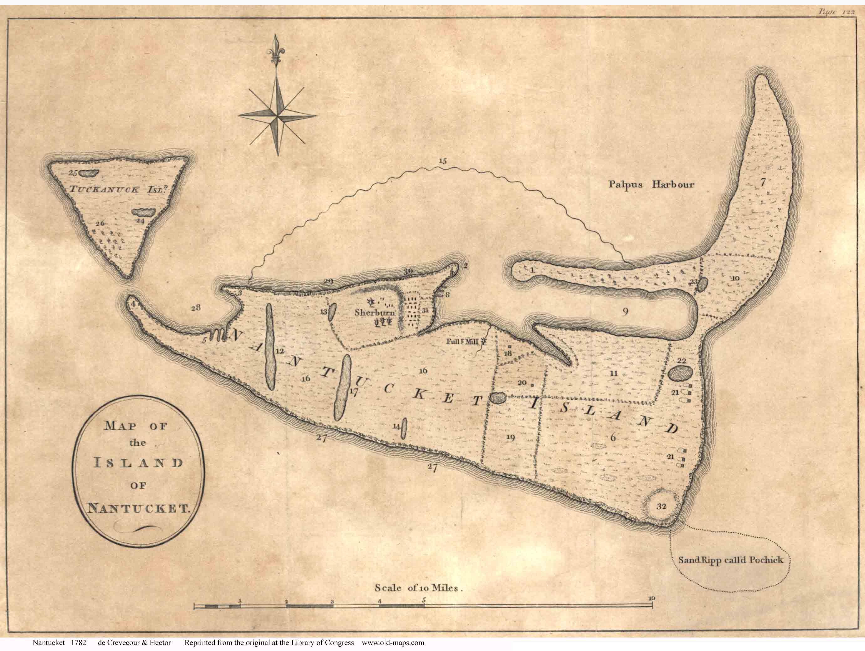 Nantucke map