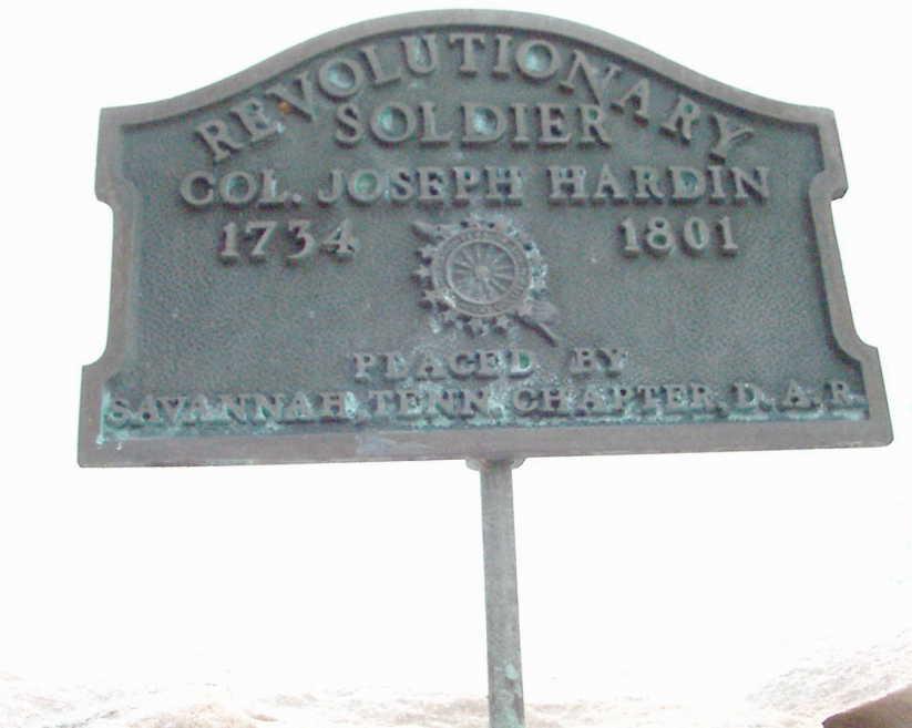 Plaque for joseph hardin