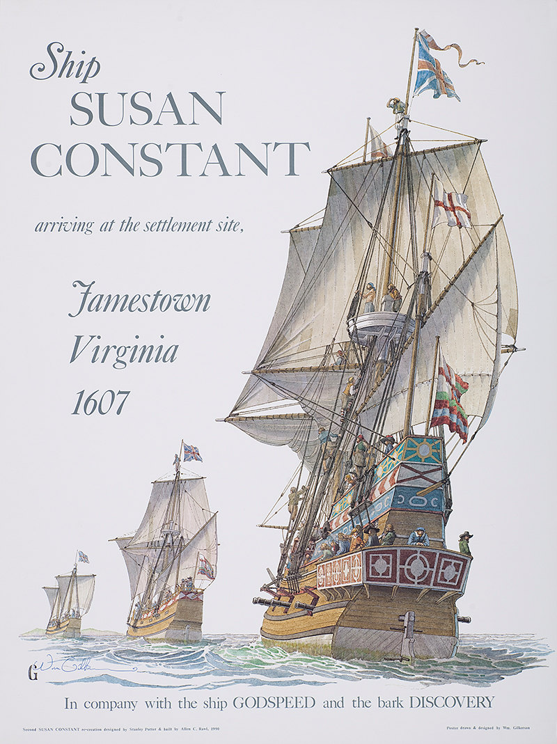 susan constant drawing