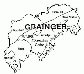 grainger co tn map