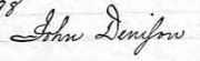 John Dennison 8th GG 26 April 1698