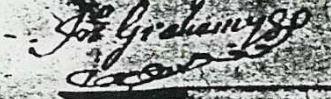 John Graham signature S 1707