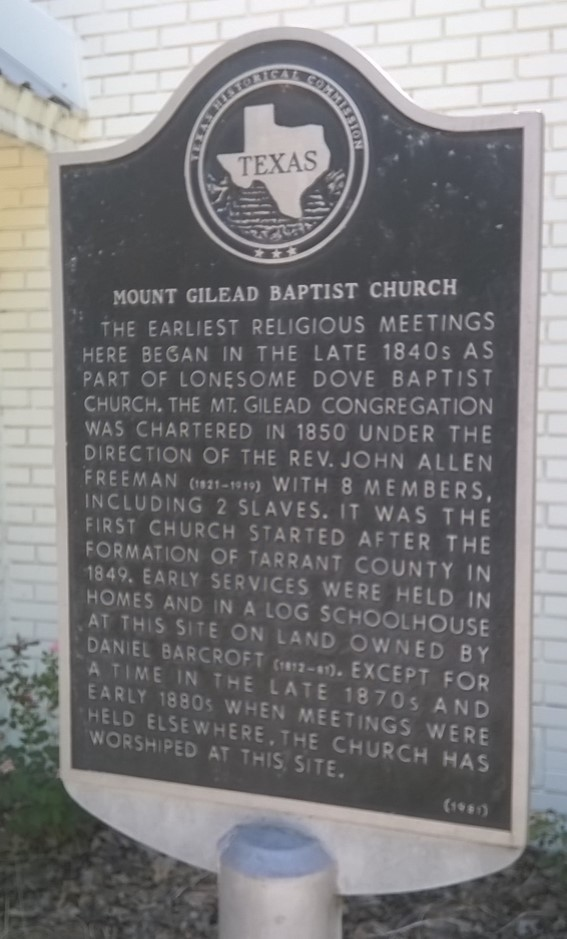 Keller_TX_Mt_Gilead_Baptist_Church_Historical_Marker