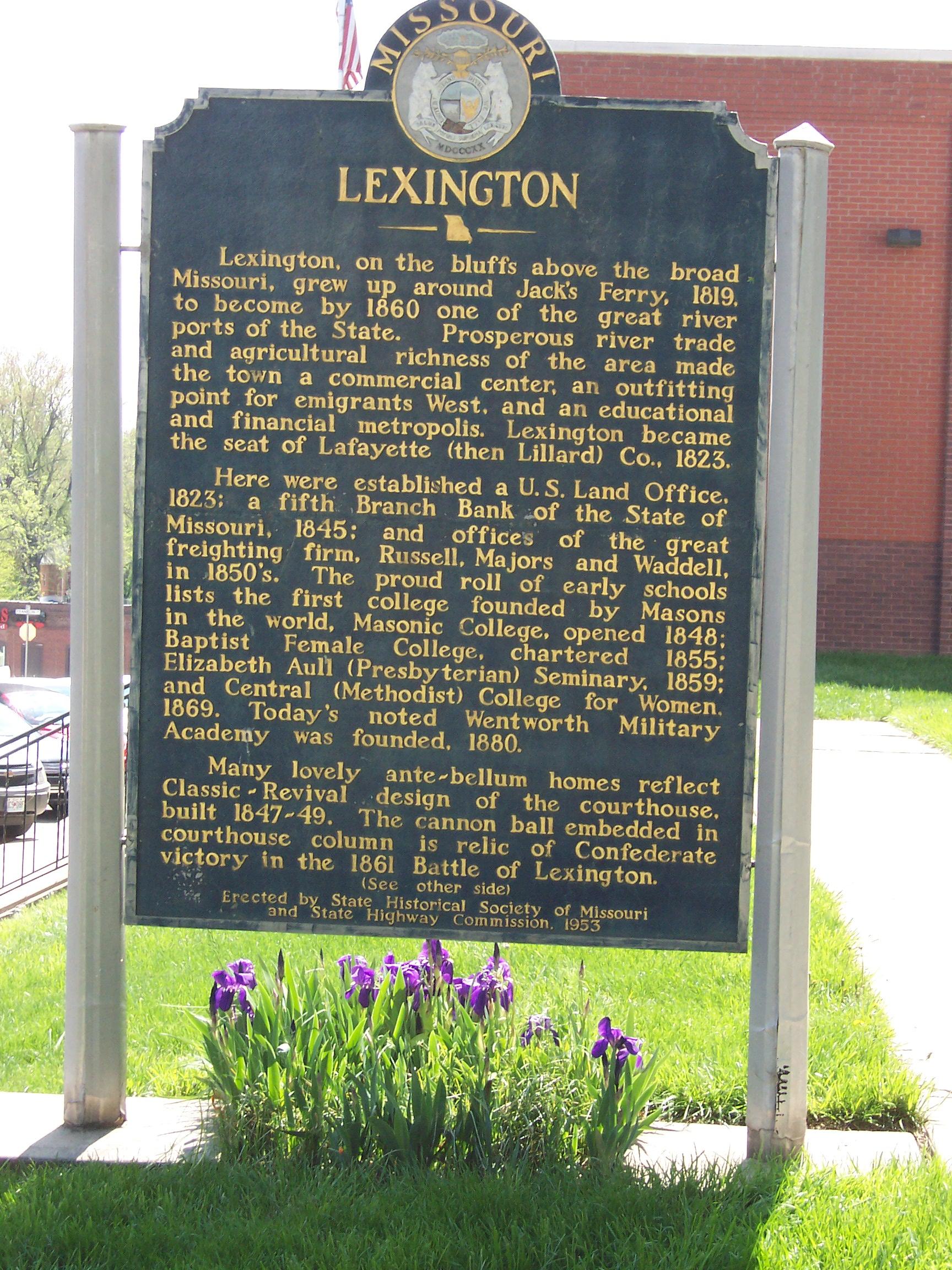 Lexington MO Sign