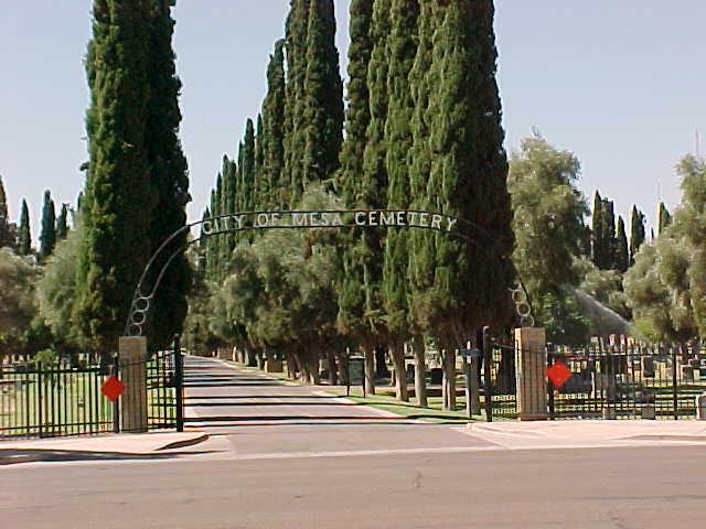 mesa cemetery entry