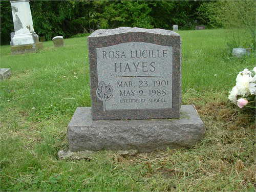 aunt rosies headstone