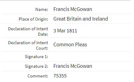 Francis McGowan Common Plea