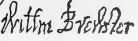 Signatures William Brewster 1620 Mayflower Compact