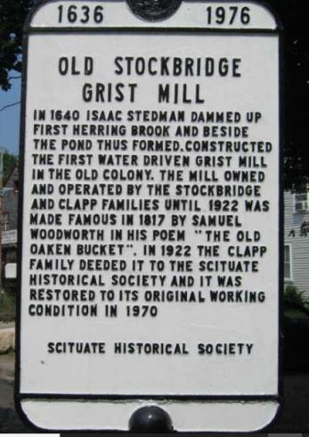 Stockbridge Grist Mill sign