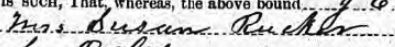 Susan Childress Rucker sign on Bond Apr 3 1878