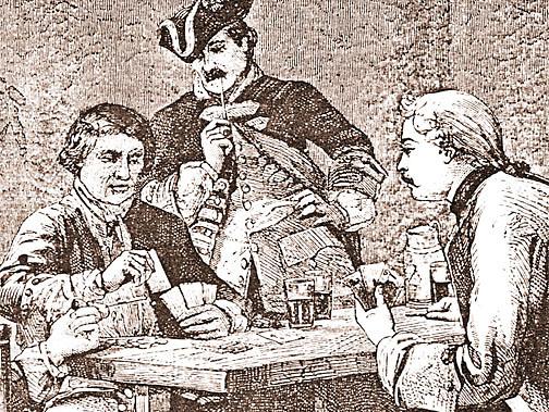 Tavern c. 1750 gambling