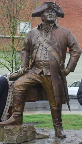 Benjamin Cleveland Statue Cleveland TN