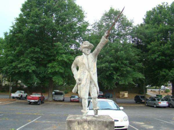 Benjamin Cleveland Statue Wilkesboro NC
