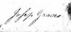 Joseph Graves sign 1774 will