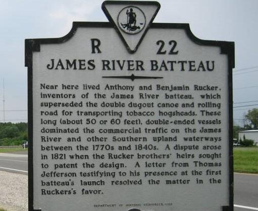 Ruckers James River Batteau historicalmarker2 2