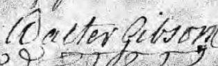 Walter Gibson Signature Will 1782
