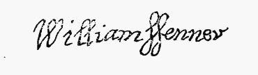 William Fenner's Signature 10th Great Uncle Sarah FENNER