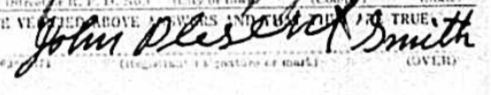 John Plesent Smith WWI Draft Registration Sept 12, 1918