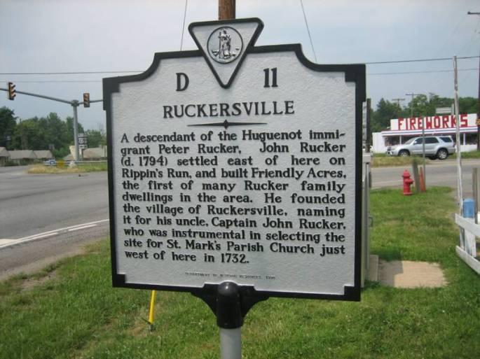 Ruckersville Peter Rucker historicalmarker