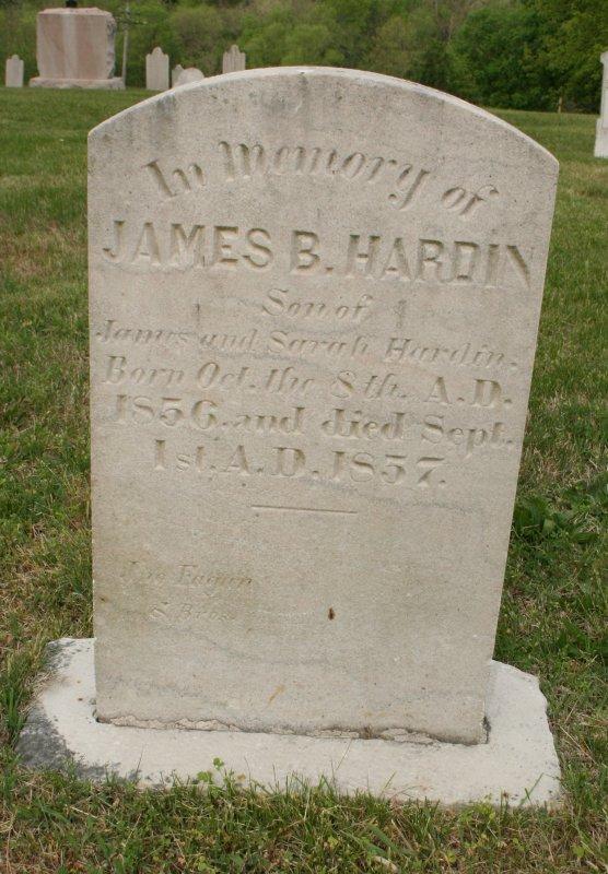 James B Hardin 1856-1857