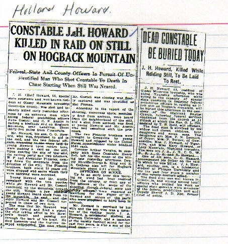 James Holland Howard newspaper clipping