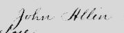 John Allen Signature on Bill of Sale 1725