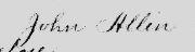John Allen Signature on Bill of Sale 1725