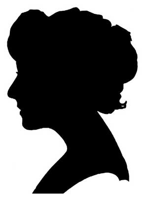 regency-woman-silhouette