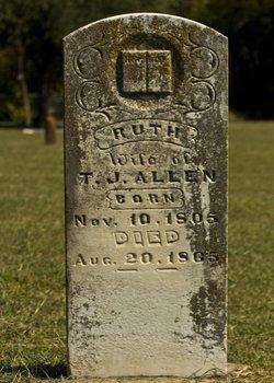 Ruth Medlin Allen 1805-1865 m Thomas Allen Jr